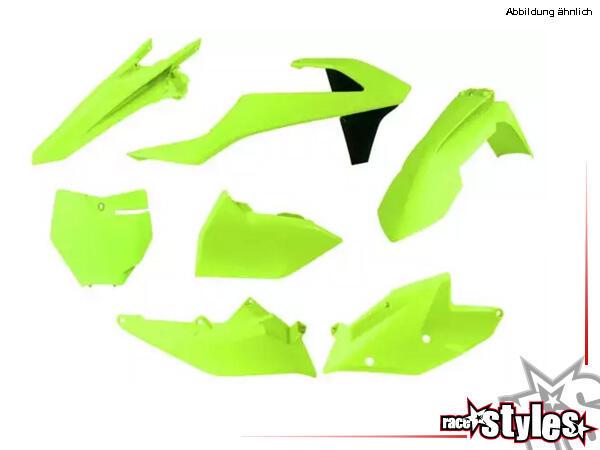 Plastic-Kit NEON YELLOW für diverse KTM Modelle. Der Kit setzt sich wie folgt zusammen:- Gabelprote
