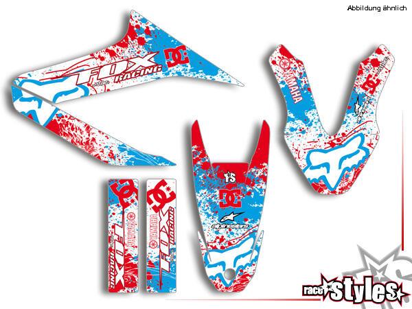 Basic Dekor-Kit für YAMAHA WR 125X / 125R (2009-2017) bestehend aus Gabel li./re., Kotflügel vo./hi