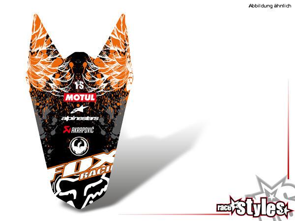 Brandings Heckkotflügel Dekor für KTM SX / SX-F (2007-2010) und EXC / EXC-F / SMR (2008-2011).