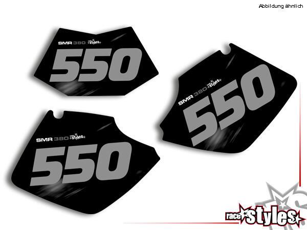 R.I.P.forever Startnummernfelder Dekor-Kit für KTM SX / SX-F (1998-2006) und EXC / EXC-F / SMR (1998-2007). inkl.