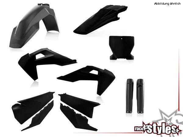 Plastik-Kit schwarz für diverse Husqvarna Modelle. Der Kit setzt sich wie folgt zusammen:- Gabelpro