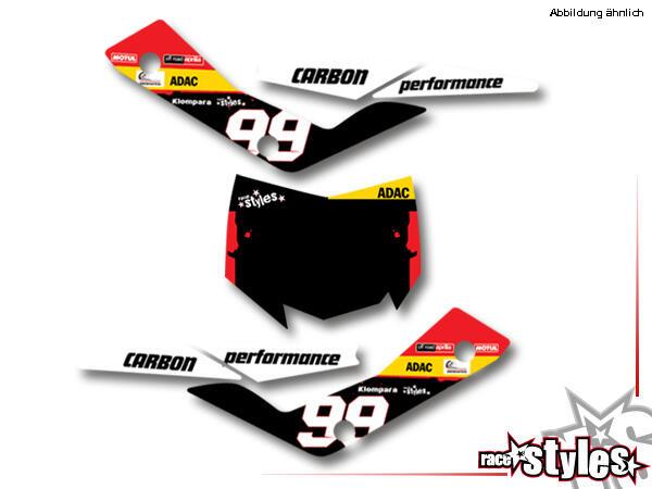 LTD.-Edition Startnummernfelder Dekor-Kit für APRILIA SXV / RXV / MXV / 450-550 Modelle.