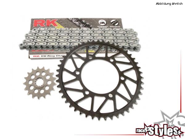 RK 520 Kettenkit (Erstausrüstungsqualität). RK X-Ringkette GB520XSO/118 (Kette offen mit Nietschlos