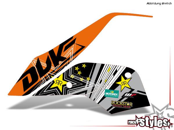 Kühlerspoiler Dekor li./re. für KTM 690 Duke 2008-2018.