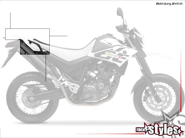 Kotflügel hinten für alle YAMAHA XT 660X / 660R Modelle 2004-2014. Verfügbar in der Farbe: schwarz,