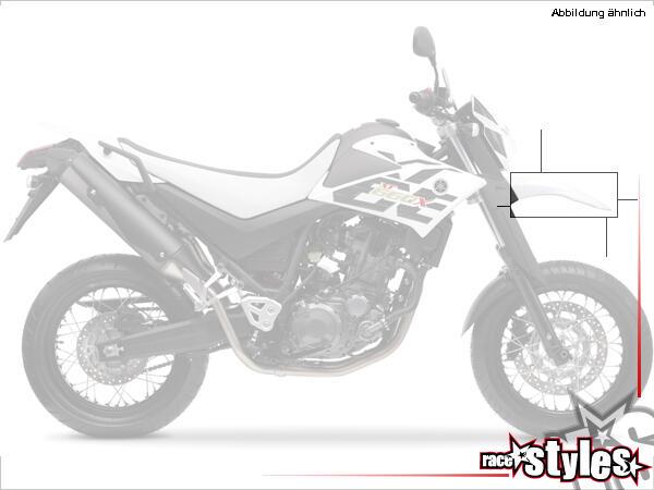 Kotflügel für alle YAMAHA XT 660X / 660R Modelle 2004-2014. Verfügbar in der Farbe: schwarz, weiß o