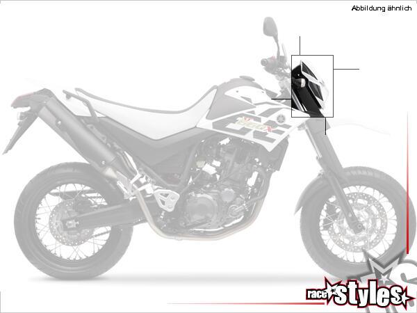 Lampenmaske (nur Gehäuse) für alle YAMAHA XT 660X / 660R Modelle 2004-2014. Verfügbar in der Farbe: