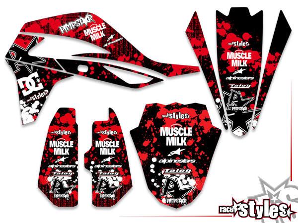 Skull-FMX Basic Dekor-Kit für SWM RS 125 - 500 / SM 500 - 650 R, 2015-2020 bestehend aus Gabel li./re., Kotfl