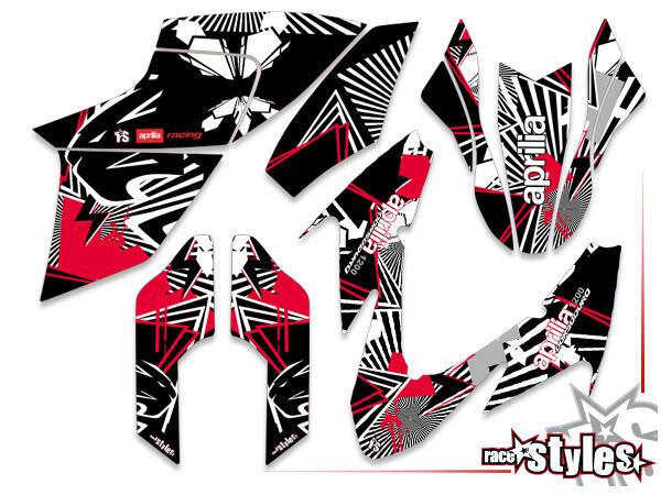 Brandings Basic Dekor-Kit für APRILIA Dorsoduro 750 / 900 / 1200, 2008-2020 bestehend aus Gabel li./re., Kotf