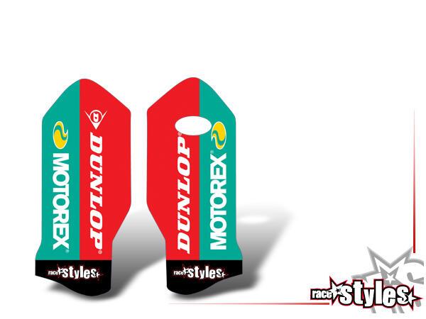 Brandings Gabelprotektoren Dekor li./re. für KTM SX / SX-F (2016-2017, 2018-2020) und EXC / EXC-F (2017-2019,