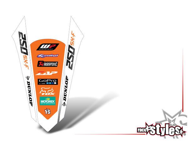 Brandings Heckkotflügel Dekor für KTM SX / SX-F (2016-2017, 2018-2020) und EXC / EXC-F (2017-2019, 2020-2021)