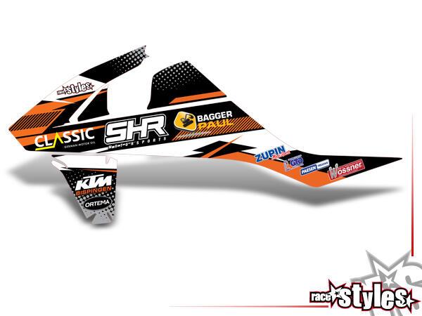 MX-Masters offizielles SHR Kühlerspoiler Dekor li./re. für KTM SX / SX-F (2016-2017, 2018-2020) und EXC / EXC-