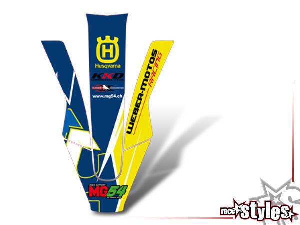 Premium-LTD. Kotflügel Dekor für HUSQVARNA TC / TE / FC / FE / FS, 2017-2020. *Die für die Produkte Neon-Ltd. ve