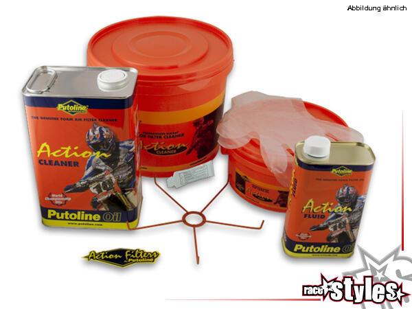 Putoline Action Kit enthält alles, was zur Reinigung und Wartung des kompletten Schaumstoff-Luftfil