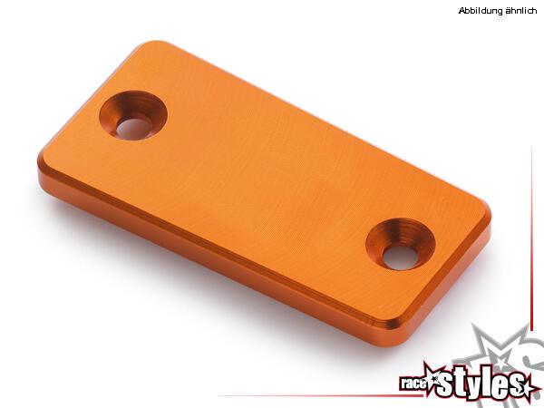 CNC-gefräßte Aluminiumdeckel für den Hauptbremszylinder. Farblich eloxiert für KTM 690 SMC / SMC-R