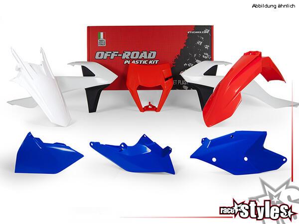 Plastic-Kit SIX DAYS für diverse KTM Modelle. Der Kit setzt sich wie folgt zusammen:- Lampenmaske 1