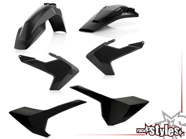 Plastik-Kit schwarz für diverse Husqvarna Modelle. Der Kit setzt sich wie folgt zusammen:- Schutzbl