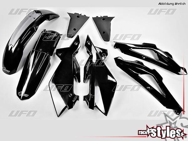Plastik-Kit schwarz für diverse Husqvarna CR WR TC TE 125 250 300 310 450 510 Modelle (Passt nicht
