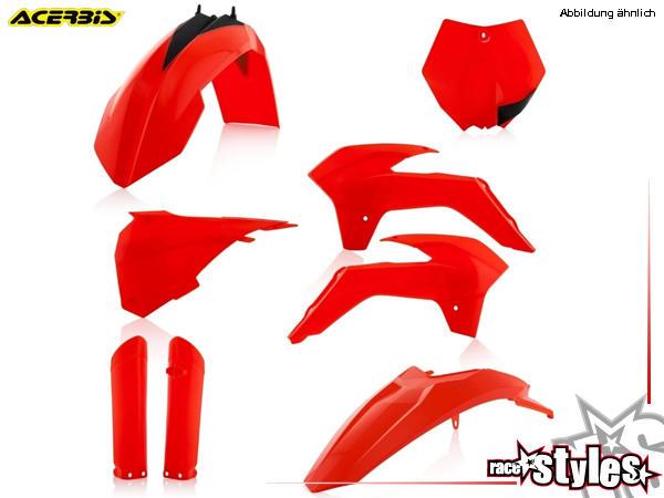 Plastik-Kit NEON ORANGE für diverse KTM SX85 Modelle. Der Kit setzt sich wie folgt zusammen:- Gabel