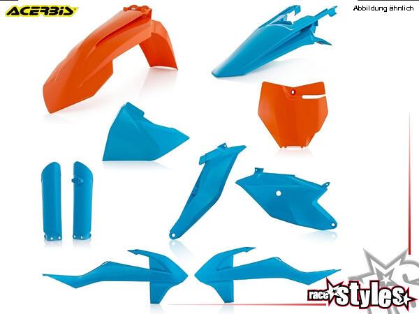 Plastik-Kit BLUE für diverse KTM SX85 Modelle. Der Kit setzt sich wie folgt zusammen:- Gabelprotekt
