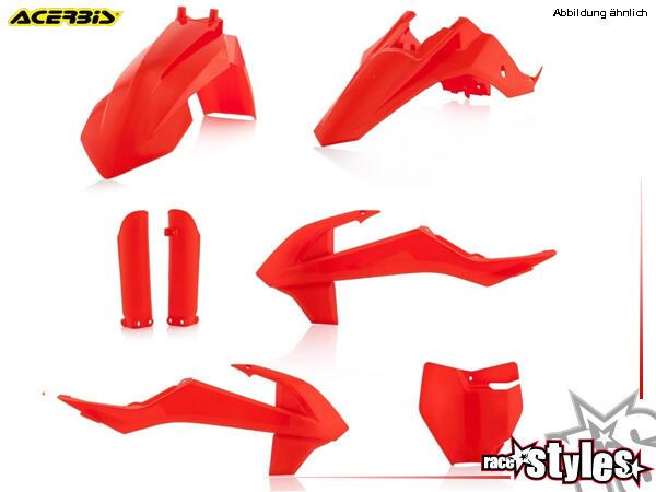 Plastik-Kit NEON ORANGE für diverse KTM SX65 Modelle. Der Kit setzt sich wie folgt zusammen:- Schut