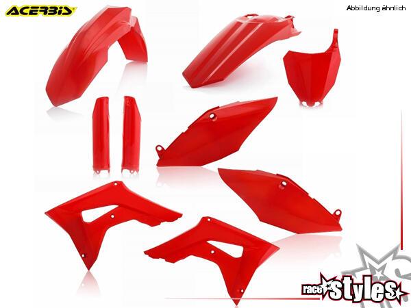 Plastik-Kit rot für diverse HONDA Modelle. Der Kit setzt sich wie folgt zusammen:- Gabelprotektoren
