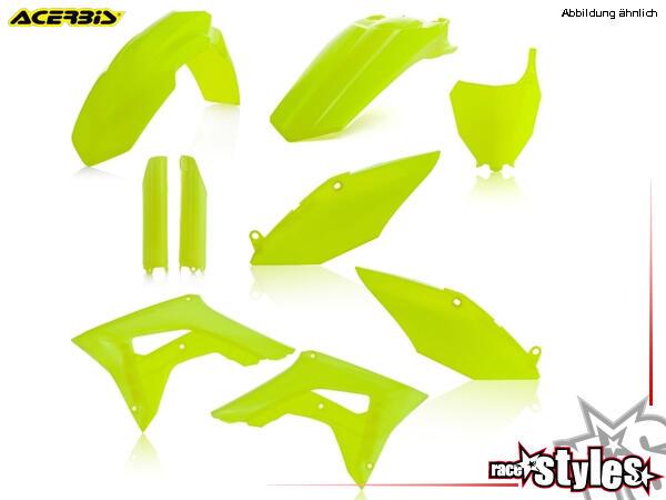 Plastic-Kit NEON YELLOW für diverse HONDA Modelle. Der Kit setzt sich wie folgt zusammen:- Gabelpro