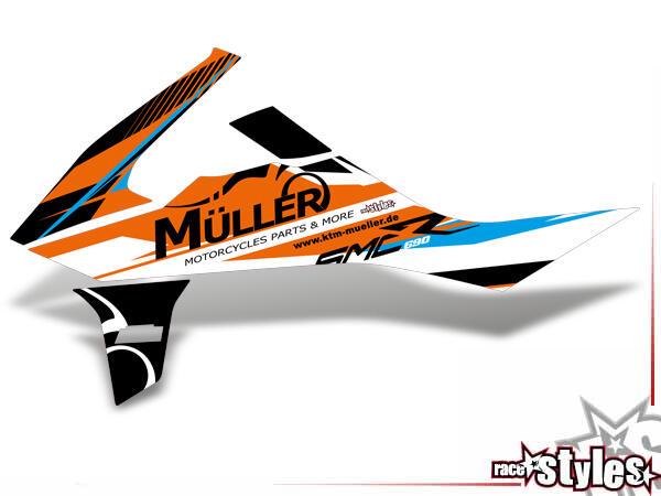 Huntington Kühlerspoiler Dekor li./re. für KTM 690 SMC-R / ENDURO 2019-.Typenbezeichnungen, wie z.B. SMC-R, we