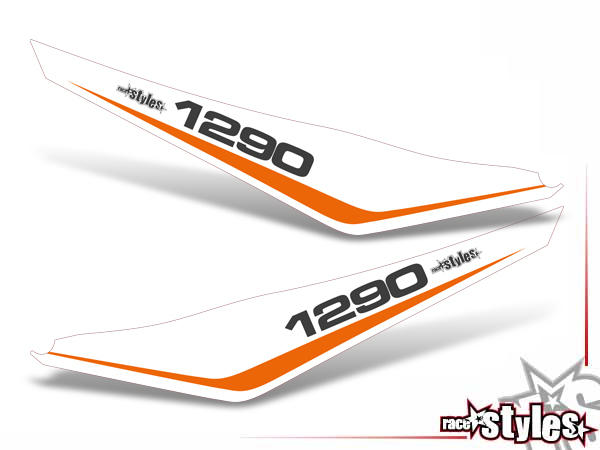 Startnummernfelder Dekor-Kit für KTM Super Adventure 1290 Modelle (2015-2019).