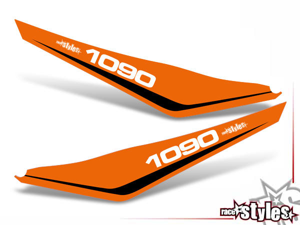 Startnummernfelder Dekor-Kit für KTM Adventure 1090 Modelle (2017-2019).