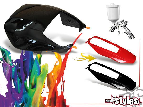 Für Plastikteile, die nicht in deiner Wunschfarbe verfügbar sind, vermitteln wir das Lackieren durc