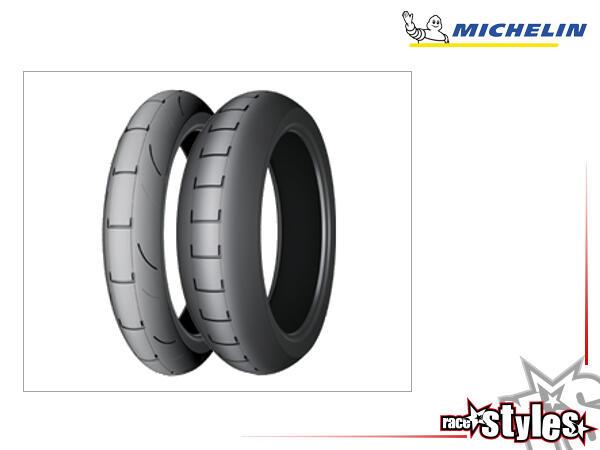 17 ZOLL Rennreifen speziell für Supermoto! Die weiche Gummimischung der Michelin-Slicks ist für die