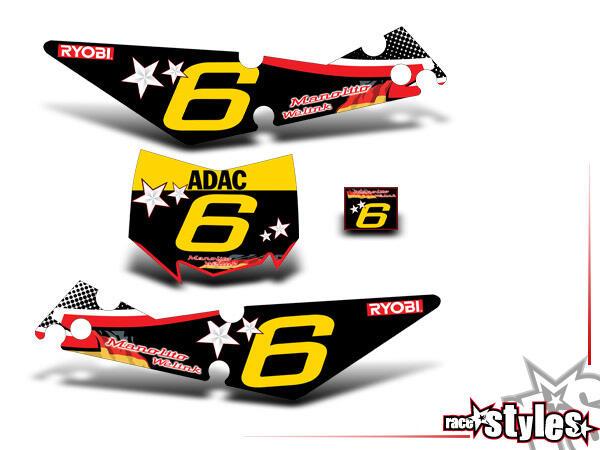 Startnummernfelder Dekor-Kit für APRILIA SXV / RXV / MXV / 450-550 Modelle.