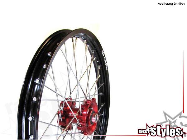 Vorderes MX-Komplettrad für verschiedene Motorradmodelle. In verschiedenen Farben lieferbar. (EXCEL