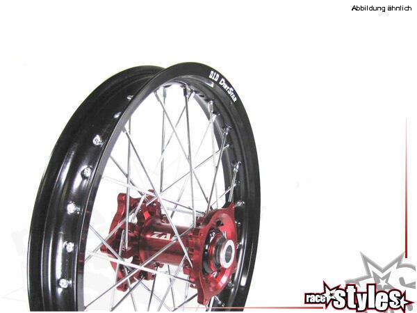 Hinteres MX-Komplettrad für verschiedene Motorradmodelle. In verschiedenen Farben lieferbar. (EXCEL